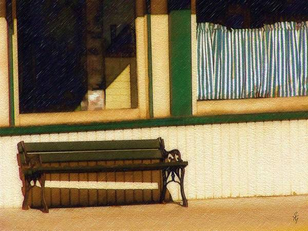 Bench Art Print featuring the photograph Come Sit A Spell by Sandy MacGowan