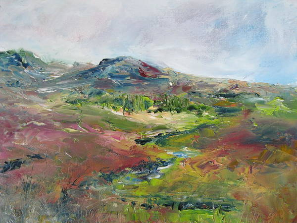 Landscape Art Print featuring the painting Connemara I by Niamh Slack