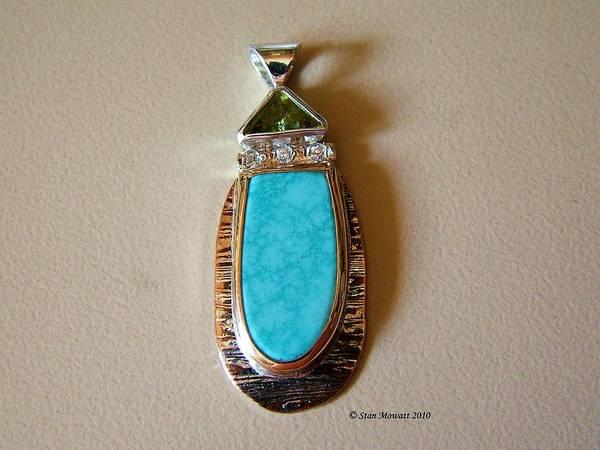 Handmade Jewelry Art Print featuring the jewelry Cool Blue Waters by Stan Mowatt