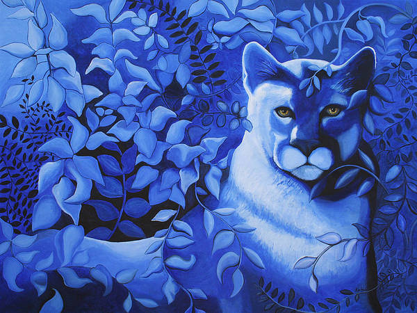 Cougar Art Print featuring the painting Cougar by Bonnie Kelso