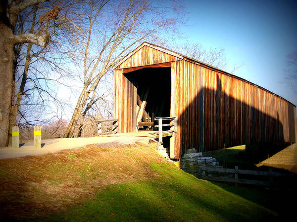 Covered Bridge Art Print featuring the photograph Covered Bridge by Don Kemper
