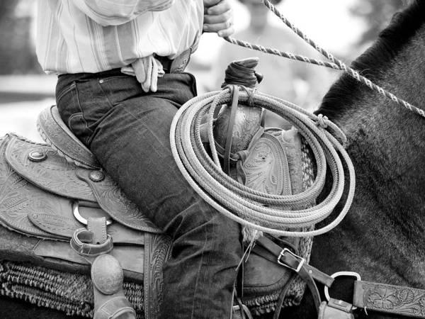 Cowboy Art Print featuring the photograph Cowboy by Lauren Munger
