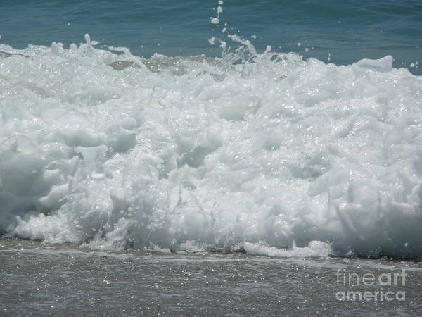 Art Print featuring the photograph Crashing Waves by Barb Montanye Meseroll