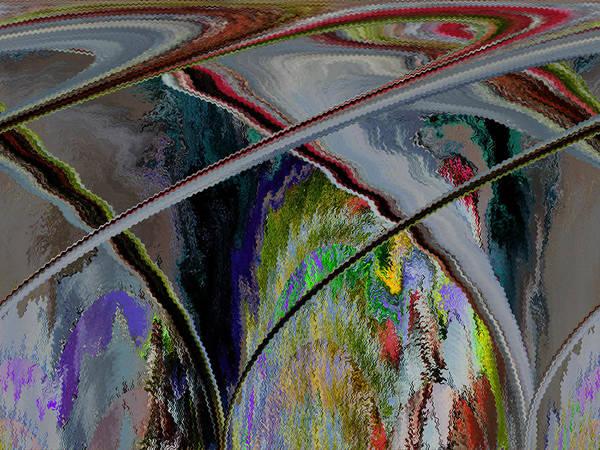 Abstract Art Print featuring the digital art Crisscross Storm by Beverly Kimble Davis
