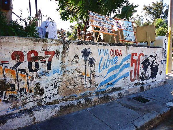 Cuba Art Print featuring the photograph Cuba Wall by Yury Bashkin