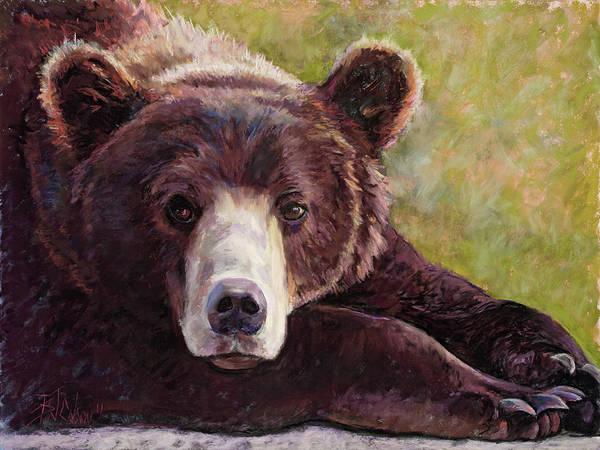Bear Art Print featuring the painting Da Bear by Billie Colson
