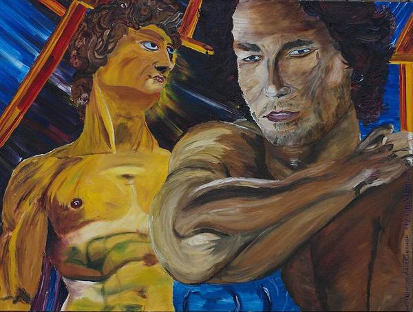 The David Art Print featuring the painting David V. Hollywood by Gregory Allen Page