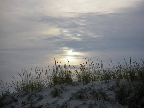 Sky Art Print featuring the photograph Day Fades Behind The Dunes by Mother Nature