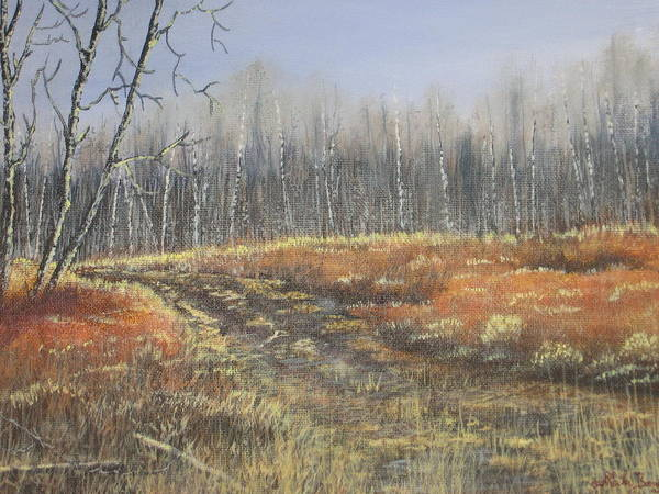 Landscape Art Print featuring the painting Days Gone By by Sheila Banga