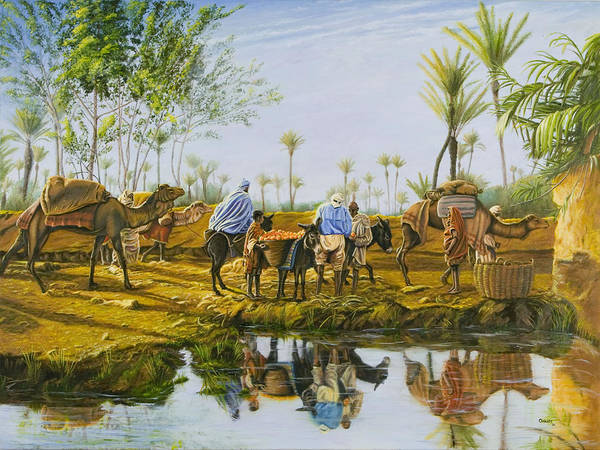 Desert Print featuring the painting Desert Gold by Christopher Oakley
