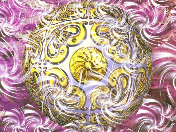 Abstract Digital Art Art Print featuring the photograph Digital Ball by Guillermo Mason