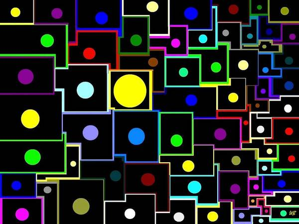 Abstract Print featuring the digital art Domino Effect by Will Borden