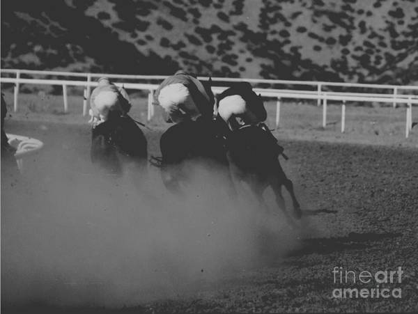 Horse Art Print featuring the photograph Dust And Butts by Kathy McClure