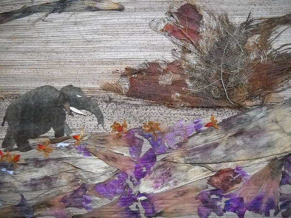 Elephant Art Print featuring the mixed media Elephant On Steep Road by Basant Soni