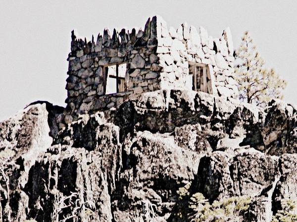 Stone Art Print featuring the photograph Emerald Bay Watchtower by Melissa KarVal