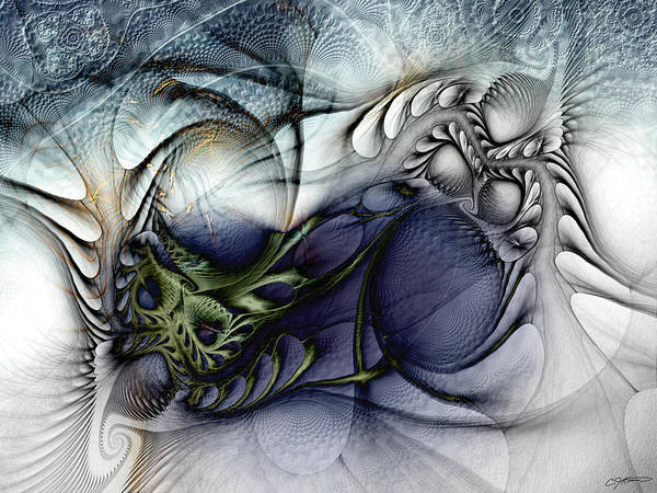 Abstract Art Print featuring the digital art Enterolithic by Casey Kotas