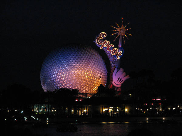 Epcot Art Print featuring the photograph Epcot At Night II by Stacey May