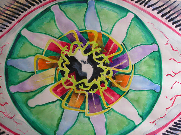 Art Print featuring the painting Eye See Pee by Mark Sharer
