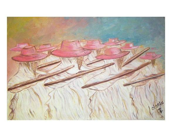Abstract Art Print featuring the painting Eyo Festival by Olaoluwa Smith