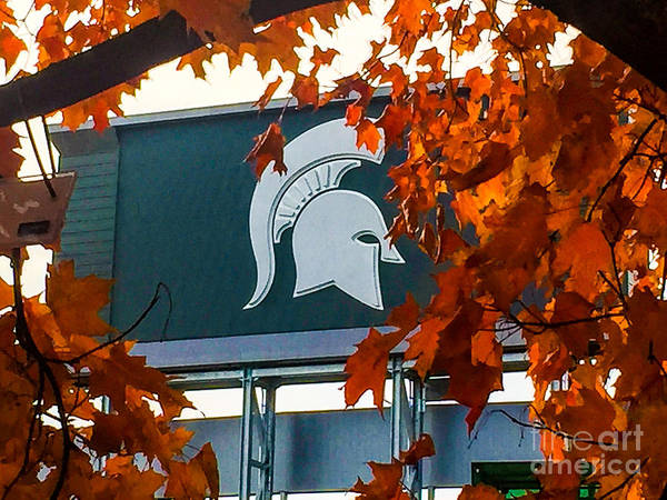 Msu Art Print featuring the photograph Fall Is Football by Joseph Yarbrough