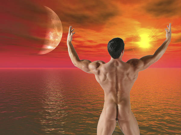 Male Nude Figure Study Fantasy Art Print featuring the photograph Fantasy I by Dan Nelson