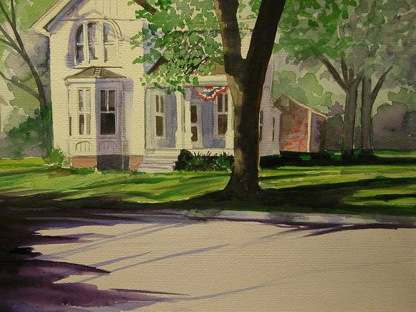 Walt Maes Art Print featuring the painting Farm House In The City by Walt Maes