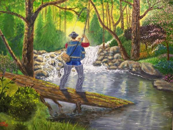 Landscape Art Print featuring the painting Favorite Spot by Charles Vaughn
