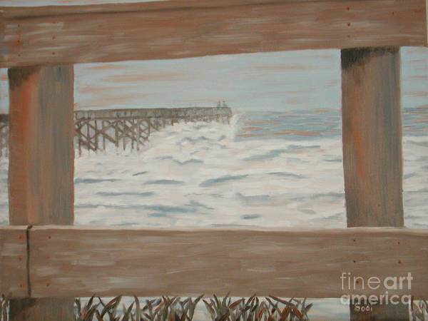 Landscape Art Print featuring the painting Fay Blew by Sodi Griffin