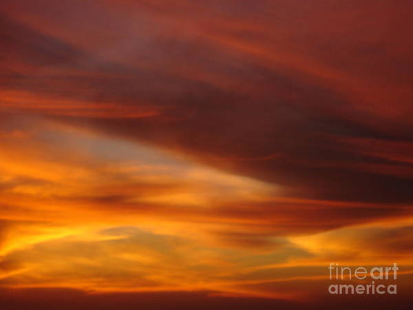 Sunset Art Print featuring the photograph Fire In The Sky 2 by Chad Natti