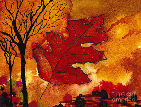 Fire Art Print featuring the painting Firestorm by Susan Kubes