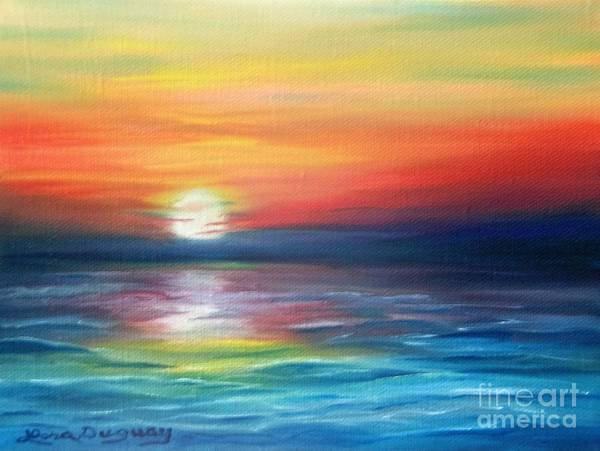Sunrise Art Print featuring the painting First Light by Lora Duguay