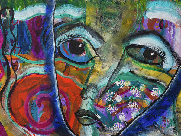 Wisdom Painting Art Print featuring the painting First Sight by Carla Obrien