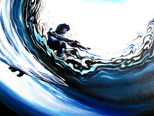 Surf Art Print featuring the painting Fish Eye by Ronnie Jackson