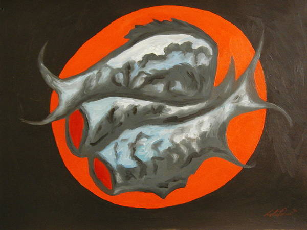 Still-life Art Print featuring the painting Fish Platter by Angelo Thomas