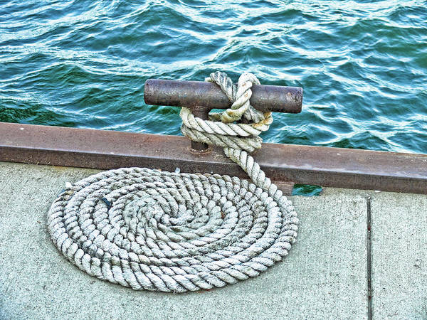 Rope Art Print featuring the photograph Fit To Be Tied by Rosemary McGahey