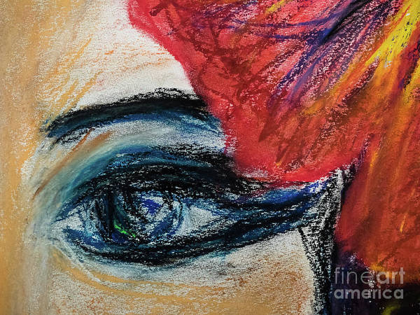 Portrait Art Print featuring the painting Flamenco Nights - Lucia Detail by Lara Azurra