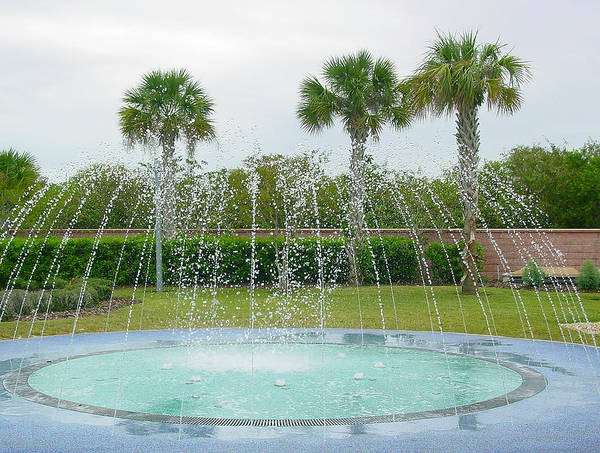 Pat Turner Art Print featuring the photograph Florida Fountain by Pat Turner