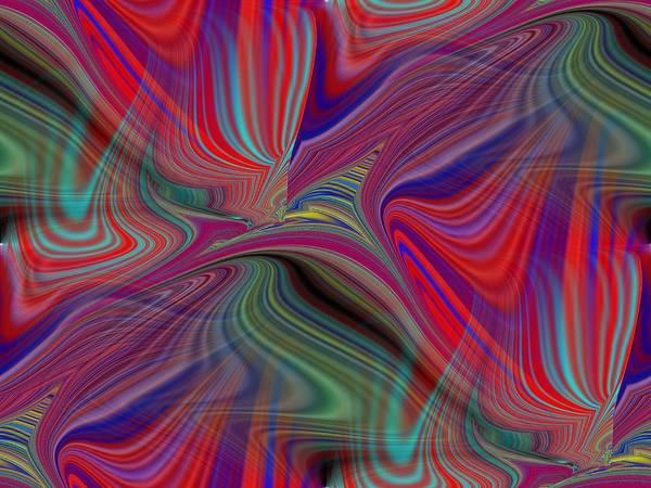 Fluid Art Print featuring the digital art Fluid Motion 6 by Tim Allen
