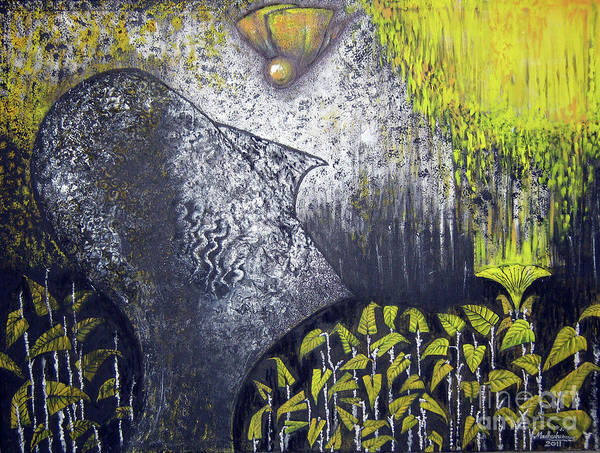 Butterfly Art Print featuring the painting Flying Thoughts by Madhu Kuruva