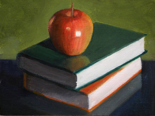 Still Life Art Print featuring the painting For The Teacher by Becky Alden