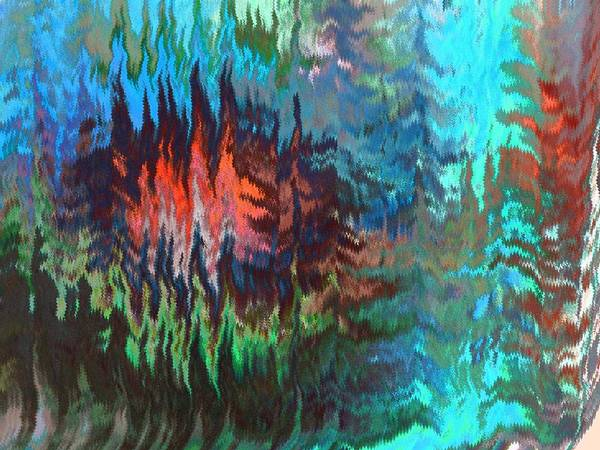 Abstract Art Print featuring the digital art Forest Fire by Lenore Senior