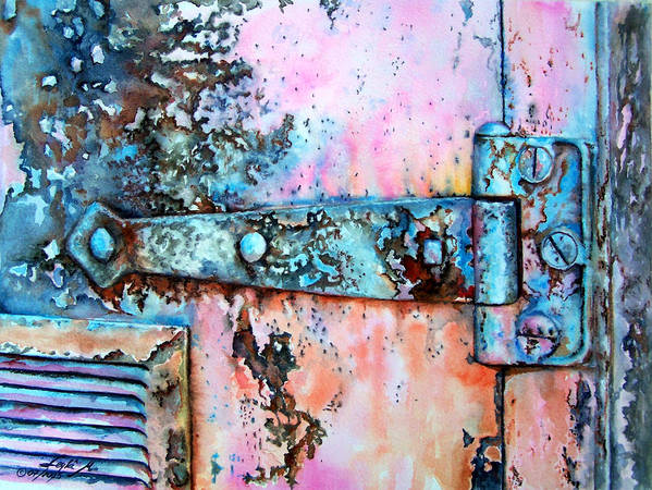 Watercolor Painting Art Print featuring the painting Forgotten by Leyla Munteanu