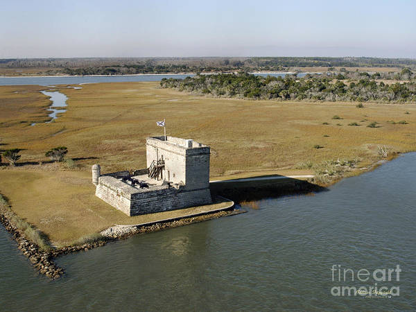 Fort Art Print featuring the painting Fort Matanzas  by Addison Fitzgerald