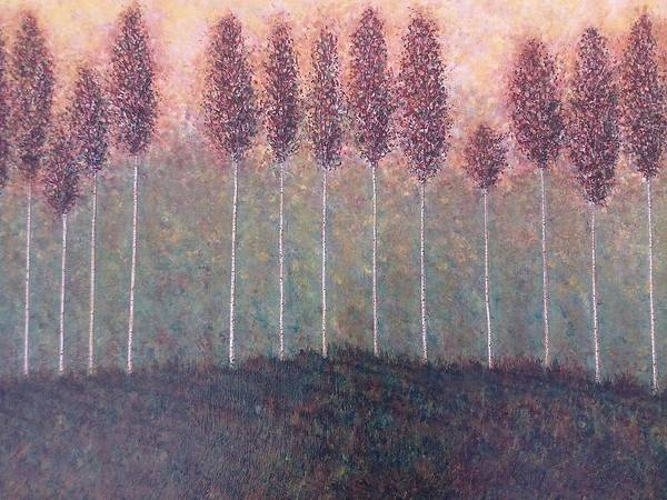 Trees Landscape Forest Art Print featuring the painting Freebush by Sally Van Driest
