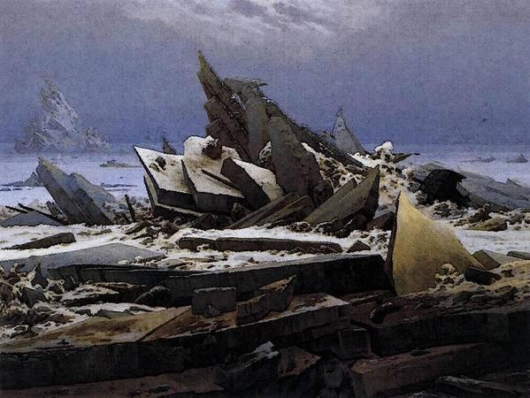 Friedrich Art Print featuring the digital art Friedrich Caspar David The Sea Of Ice by PixBreak Art