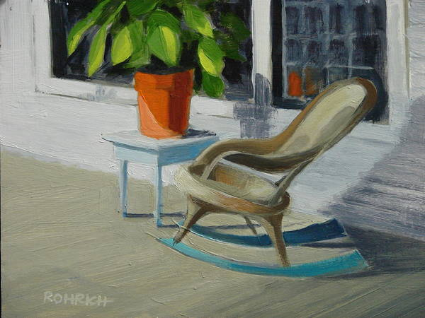 Wicker Art Print featuring the painting Front Porch Memories by Robert Rohrich