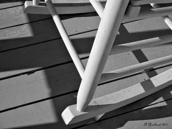 Porch Art Print featuring the photograph Front Porch Rocker by Betty Northcutt