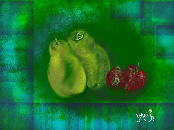 Fruit Art Print featuring the digital art Fruit by Jessica Mason