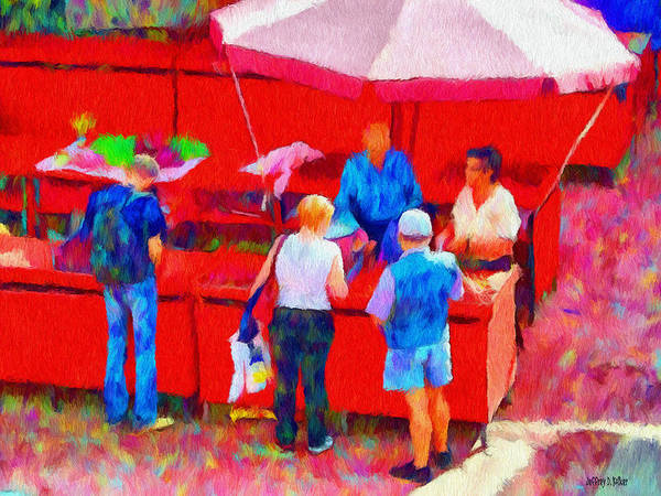 Fruit Art Print featuring the painting Fruit Of The Vendor by Jeff Kolker