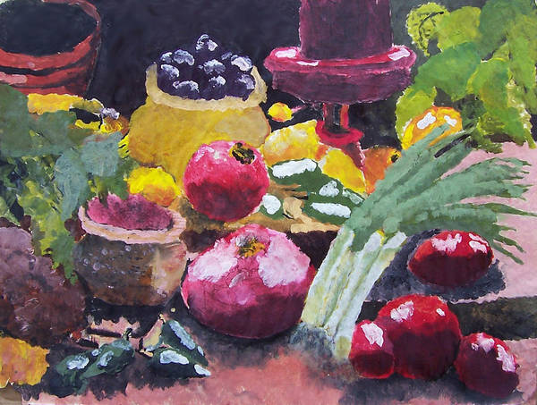 Fruit Art Print featuring the painting Fruit Still Life by Tammy Dunn